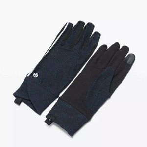 Lululemon Cross Chill Run Gloves Black/Blue XS/S